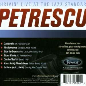 Cover for album Marian Petrescu - Thrivin' - Live At The Jazz Standard
